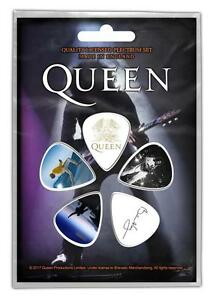 OFFICIAL-LICENSED-QUEEN-BRIAN-MAY-5-GUITAR-PLECTRUM-PICKS-PACK-MERCURY