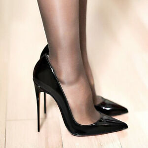 Fashion-Women-039-s-Stilettos-Pumps-Pointy-Toe-Patent-Leather-High-Heels-Shoes-Size