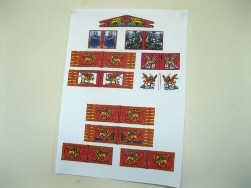 28mm Medieval Renaissance Italian Wars paper Venetian Flags
