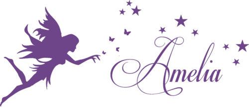 3D Butterflies Fairy Princess Wall Art Sticker Nursery Personalised Name