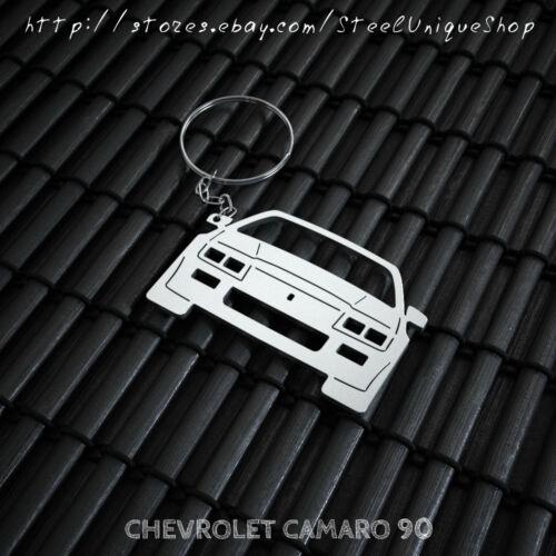 Chevrolet Camaro 90 Stainless Steel Keychain