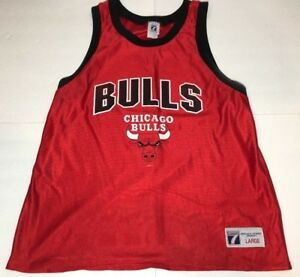 brand new 64aeb cda5d Details about Vintage Chicago Bulls Jersey Adult Large NBA 80s Logo 7 Tank  Top Practice