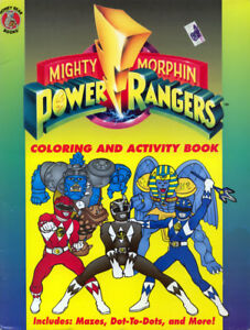 Details about Power Rangers coloring book RARE UNUSED