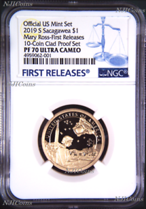 2019 S Proof Native American Mary Ross NGC PF70 FR Dollar from 10-coin set Blue