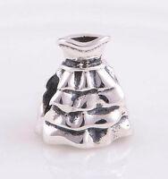 925 Sterling Silver European Charm Bead Wedding Dress Bridesmaid Girls Night Out