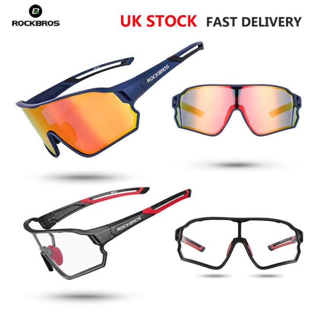 RockBros Polarized Cycling Glasses Eyewear Bike Goggles Fishing Sunglasses