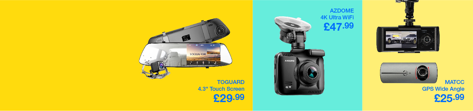 Save up to 50% on Emerging Dashcams