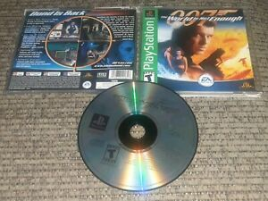 Playstation Ps1 Complete Video Game James Bond Movie 007 The World