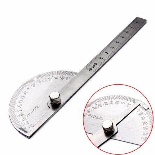 180 Grad Winkelmesser Edelstahl Messwerkzeug Maßstab Schmiege Lineal Gradbogen