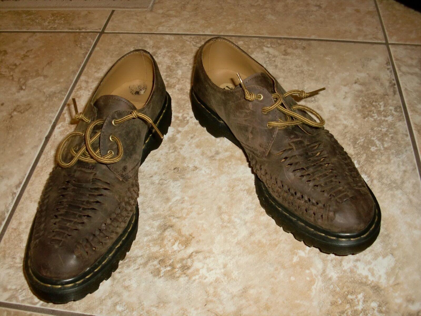 Men's DR.MARTENS EZRAENTERWOVEN DISTRESSED Leather Oxfords shoes size 12US 46EU