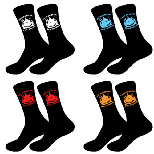 Personalised Fathers Day Awesome Uncle Shark Socks Sizes 6-11,10-13 Big Foot