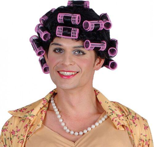Adulte Ménagère bouclés perruque avec rouleaux Drag pantographe Déguisements Stag