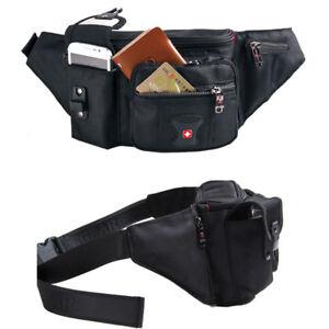 Swiss-Gear-Fanny-Waist-Bag-Purse-Belt-Running-Sports-Bag-phone-case-Black