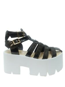 WOMENS LADIES DOUBLE BUCKLE CLEATED