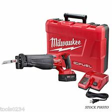 New Milwaukee 2720-21 M18 FUEL SAWZALL Reciprocating Saw Kit w/ Charger, Battery