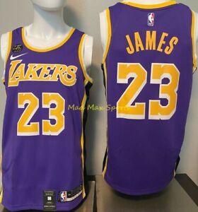 Details about LEBRON James LA Lakers Nike KOBE PATCH Purple STATEMENT Swingman Jersey Sz S-XXL