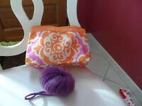 Orange And Purple Cosmetic Bag From Clinique Plus A Purple Scrub Buff