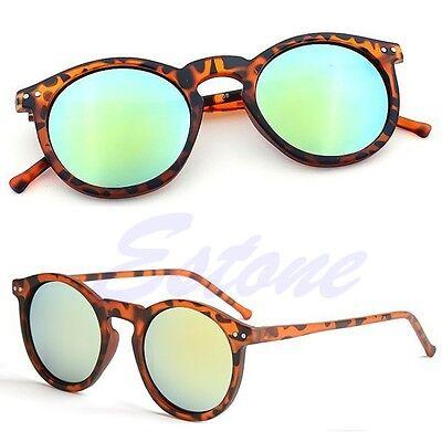 Womens Mens Retro Vintage Cat Eye Sunglasses Metal Frame Unisex Round Glasses