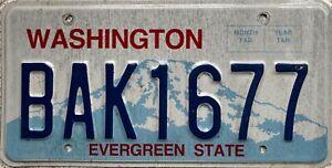 Washington-Mount-Rainier-American-License-Licence-USA-Number-Plate-BAK-1677