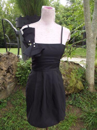 Max Perfetto Sz Dress 2 Spaghetti Festive Cleo Party And Strap Lbd Black Cocktail rqFaA7rWw