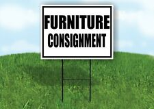 Furniture Consignment Black Border Yard Sign Road With Stand Lawn Sign