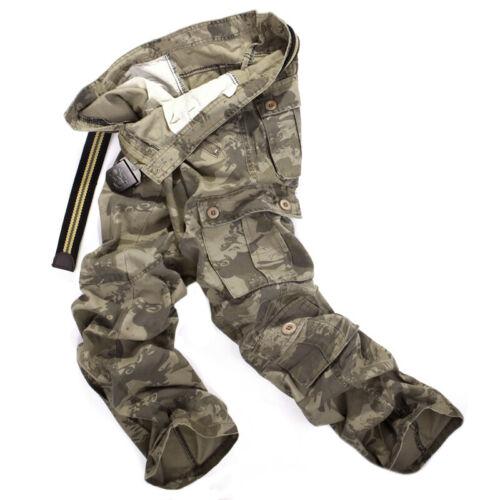 Homme Militaire Combat Cargo multi poches armée travail pantalon lâche pantalon été