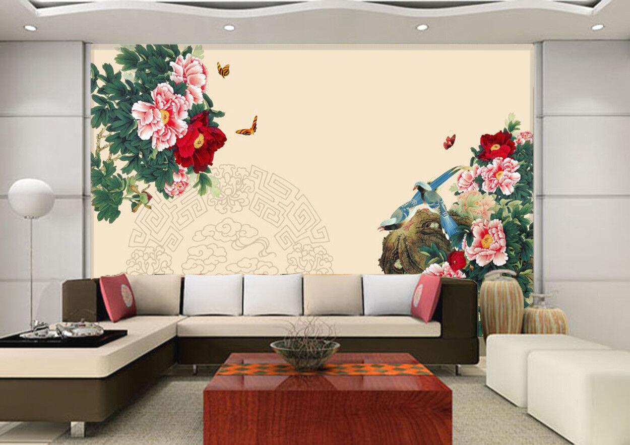 3D Blaumen Blätter Muster 8964 Tapete Wandgemälde Tapeten Tapeten Tapeten Bild Familie DE Kyra | Sonderkauf  | Attraktiv Und Langlebig  | Exquisite (mittlere) Verarbeitung  8c697d