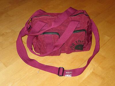 Handtasche Damen NEU weinrot sportlich Umhängetasche rot Tasche verstTrageriemen