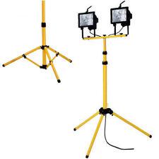 500W TWIN HEAD TELESCOPIC HALOGEN FLOODLIGHT WORK SITE FLOOD LIGHT TRIPOD STAND