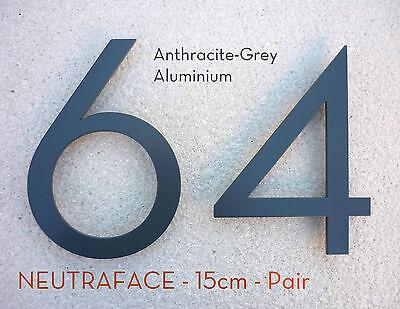 Neutraface Aluminio Negro Números Casa 20cm Rápido