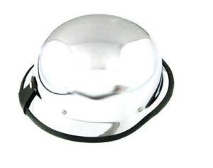 KR-Brain-Cap-Halbschalenhelm-Chopper-Helm-Motorrad-CHROM-GERMAN-Groesse-XXL-Neu