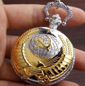 Taschenuhr-Pocket-Watch-CCCP-USSR-KGB-Soviet-Union-Putin-Russia-Russland