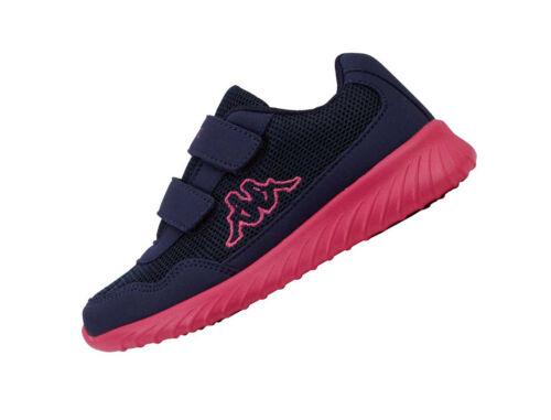 Kappa Cracker 2 Navy 260687K Pink Kinder 6722 Sneaker Klett Mädchen Sportschuhe