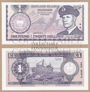 Écosse-Îles Shetland 1 Lb (environ 0.45 Kg) 2015 Unc Specimen Test Note Billet-afficher Le Titre D'origine Mzvwvsff-07232312-992425867