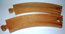 2 tallas Kurven Arqueada Tren de madera aprox. 18 cm con Brio compatible