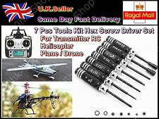 Transmitter RC Helicopter Plane Drone 7Pcs Tools Kit Hex Screw Driver Set