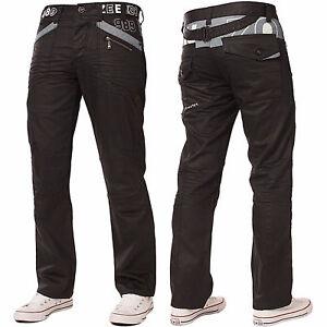 Nouvelle-hommes-enzo-jeans-designer-denim-noir-EZ112-Revetement-bon-marche-Taille-28-48