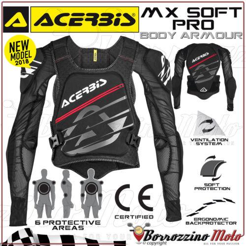 S PETTORINA PROTEZIONE ACERBIS MX-SOFT PRO MOTO CROSS ENDURO OFFROAD TG 160cm