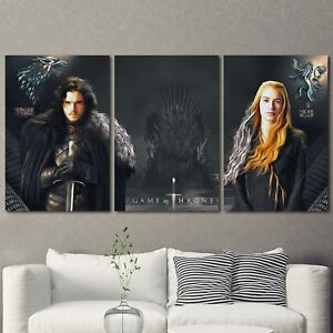 Details About Game Of Thrones Painting 3pcs Hd Canvas Print Home Decor Room Wall Art Picture