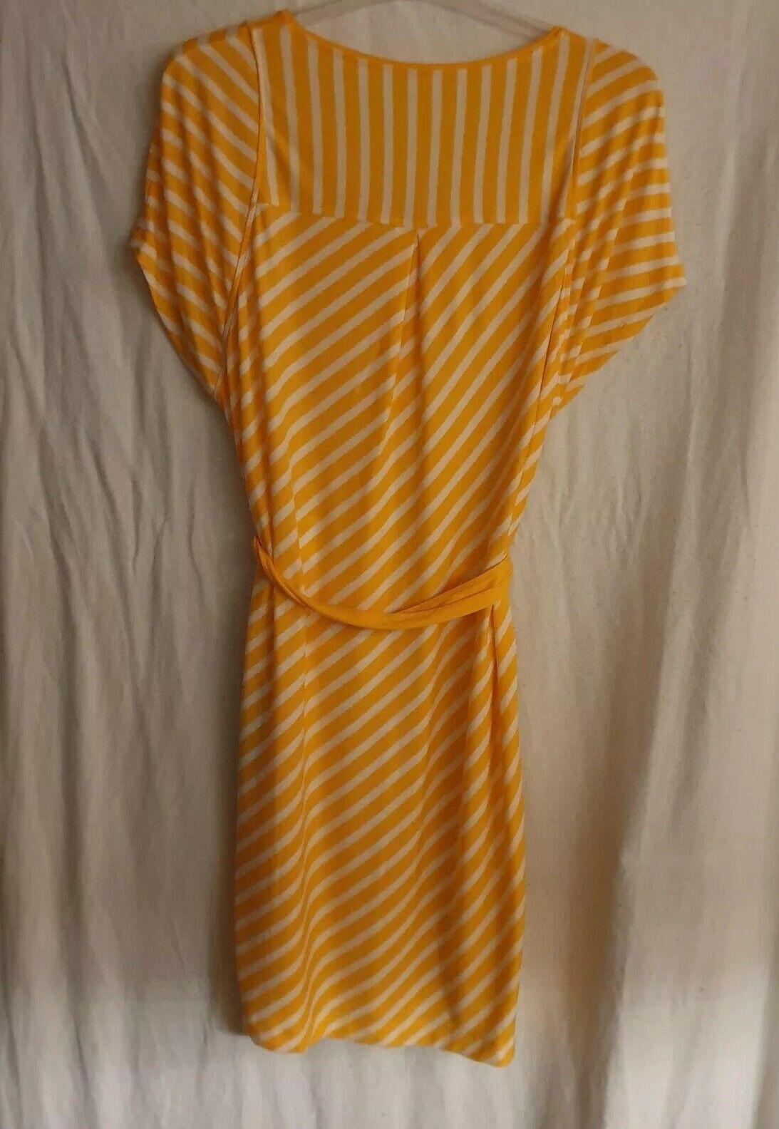 Marc Cain Minikleid   T-Shirt-Kleid Orange Weiß Gestreift Gestreift Gestreift Gr. N3  Gr. 38 a01c9c