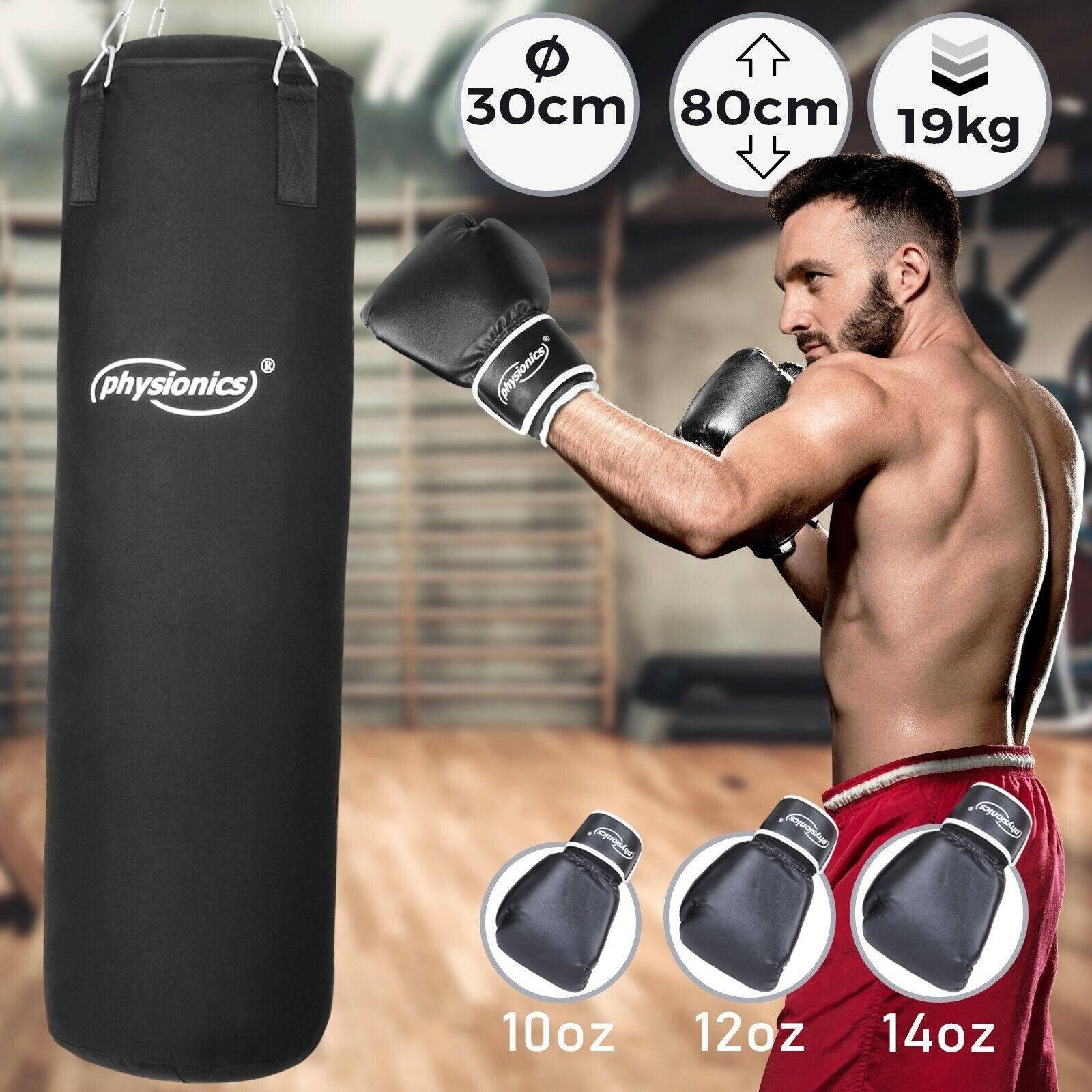 Boxsack gefüllt 27 kg Sandsack mit Halterung Box Stahlkette 100 cm Punching Bag