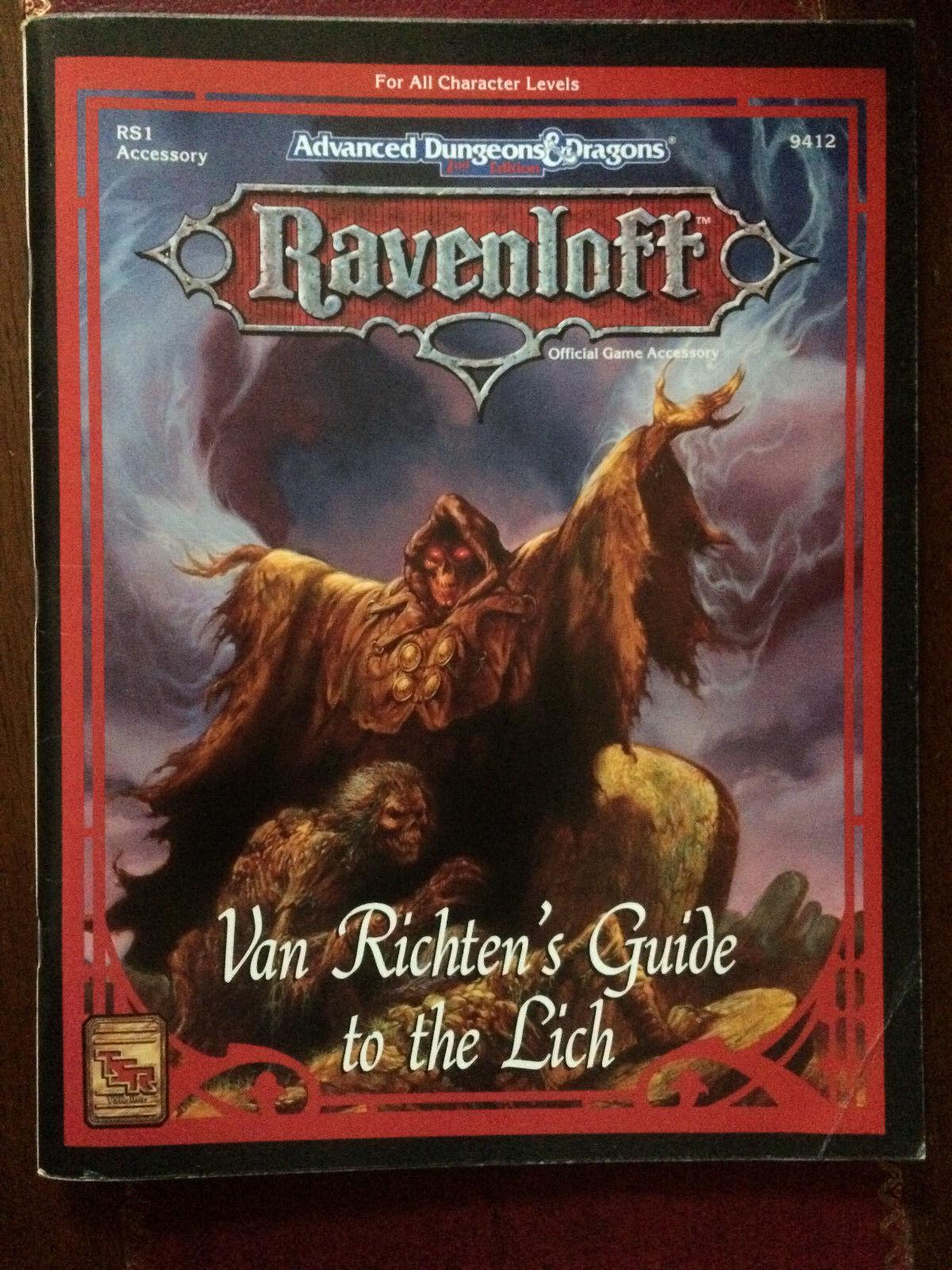 VAN Ravenloft AD&D RICHTENS RS1 9412 LICH THE TO GUIDE