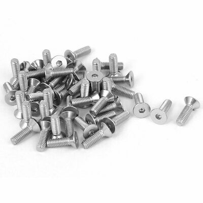 uxcell 100Pcs 304HC Stainless Steel Countersunk Hex Key Bolt Screw M2.5x8mm