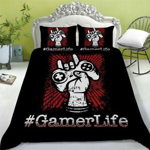 Gamepad Bedding Set for Boys Gamer Comforter Duvet Cover Set for Bedroom