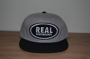 Real Skateboards Snapback Hat Brand New Black   Gray Limited Release ... c9c58e321c6