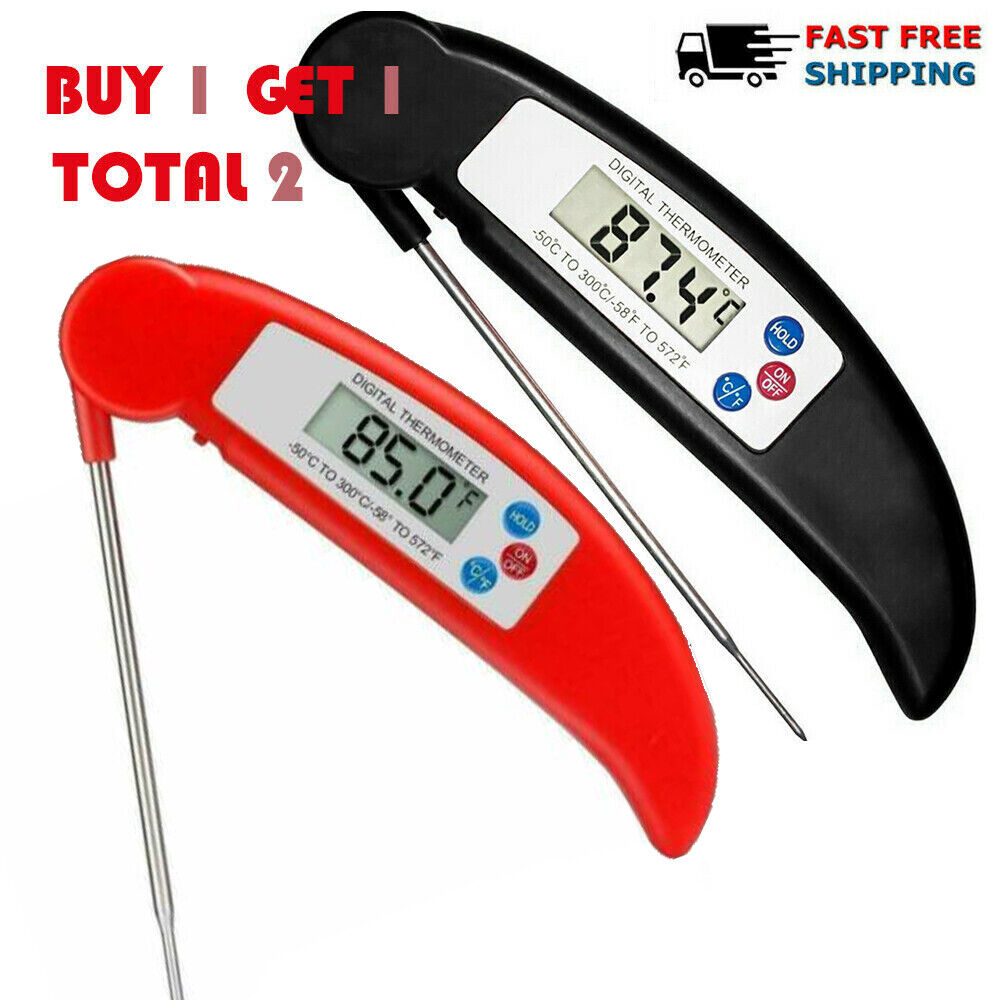 Instant Read Digital Food Meat Thermometer for Kitchen Cooki