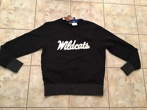 Black cuello Sz redondo sudadera Wildcats Top con Medium Free New Kentucky S Nike wOX8x11