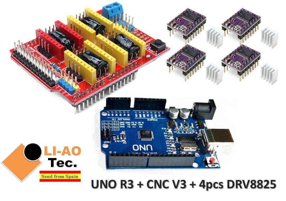 4pcs DRV8825 Stepper Motor Driver UNO R3 CNC Shield V3 Expansion Board
