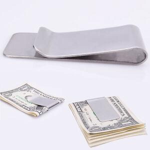 Neu-Geldspange-Geld-Klammer-Clip-Money-Clip-mit-Kreditkarte-in-einem-Clip-B6H7