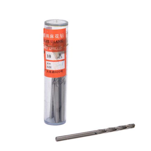 10Pcs Micro Hss 0.3-3Mm Straight Shank Twist Drilling Bits Sets Tiny DurablM0OK